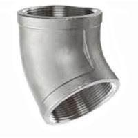 ¾ inch NPT threaded 45 deg 304 Stainless Steel elbow