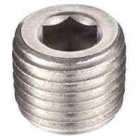 ½ inch NPT galvanized merchant steel hex head counter sunk plug