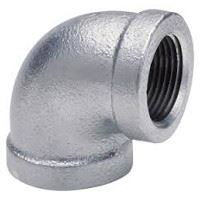 ¼ inch NPT threaded 90 deg galvanized elbow
