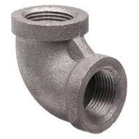 ¾ inch NPT threaded 90 deg malleable iron elbow