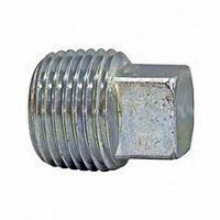 ⅜ inch NPT galvanized malleable iron square head plug