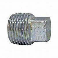 ¾ inch NPT Galvanized merchant steel square head plug
