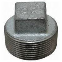 6 inch NPT malleable iron square head plug