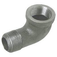 ⅛ inch NPT threaded 90 deg malleable iron street elbow