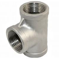 Picture of 1 ¼ inch NPT Class 150 Stainless Steel Straight Tee