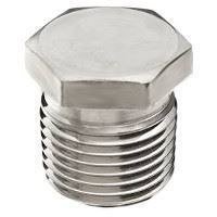 Picture of ⅛ inch NPT Class 150 316 Stainless Steel hex head plug