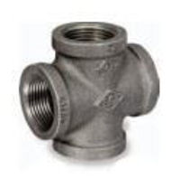 Picture of 2 inch NPT class 150 galvanized malleable iron cross