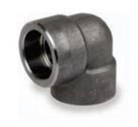 Picture of ¼ inch 90 degree forged carbon steel socket weld elbow