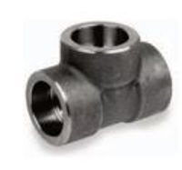Picture of ⅜ inch forged carbon steel socket weld straight tee