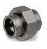 Picture of ¼ inch forged carbon steel socket weld union