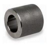 Picture of ½ inch forged carbon steel socket weld coupling