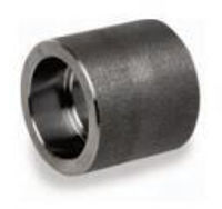 Picture of 1 ¼ inch forged carbon steel socket weld half coupling