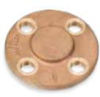 Picture of 2 ½ inch NPT Threaded Class 150 Bronze Blind Flange