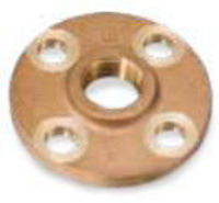 Picture of 3/4 inch NPT Threaded Class 150 Bronze Theaded Flange