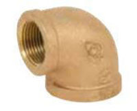 Picture of 1 ¼ inch NPT Threaded Bronze 90 degree elbow