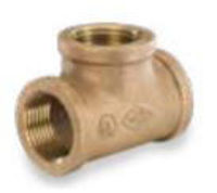 class 125 npt threaded bronze straight tee