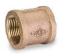 Picture of 1 1/4 inch NPT threaded bronze full coupling