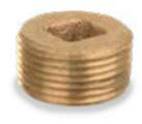Picture of 1-1/2 inch NPT threaded bronze square countersunk head plug