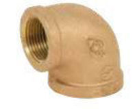 Picture of ¾ inch NPT Threaded Lead Free Bronze 90 degree elbow