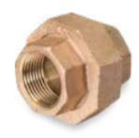 Picture of ¼ inch NPT threaded lead free bronze union