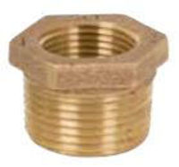 Picture of ¾ x ⅛ inch NPT threaded lead free bronze reducing bushing